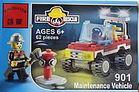 """Конструктор Brick """"Пожарный Джип техобслуживания"""" 62 деталей"""