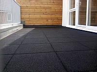 Резиновая плитка 500х500х40 чёрная