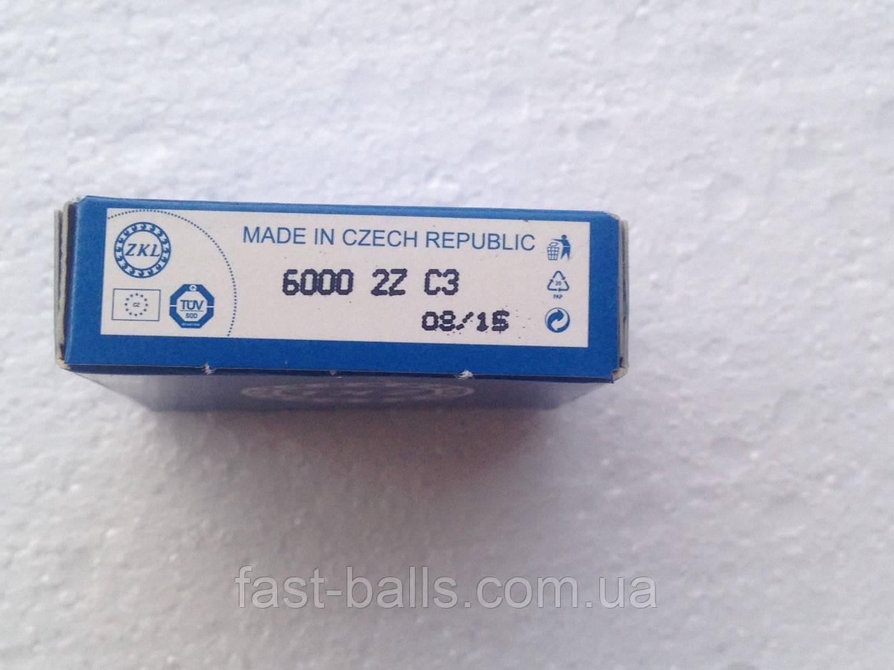 Подшипник ZKL 6000 C3 2Z (10x26x8) однорядный с тепловым зазором