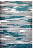 Ковёр Kolibri серо - синяя абстракция 1.20 х1.70