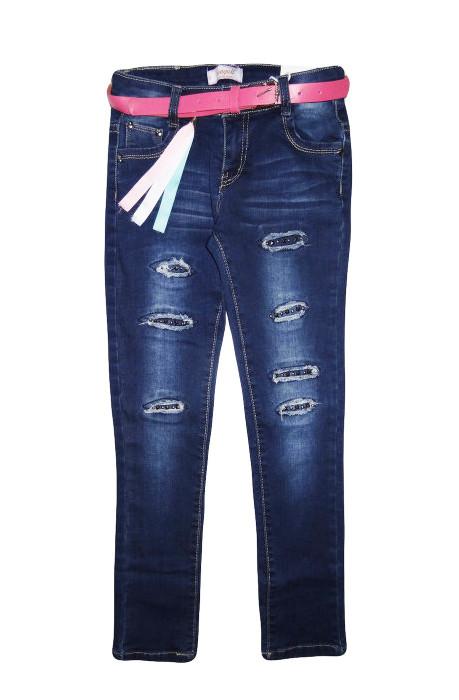 Джинсовые брюки для девочек оптом, Seagull, размеры 134-164 рр., арт. CSQ-89879