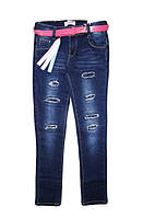 Джинсовые брюки для девочек оптом, Seagull, размеры 134-164 рр., арт. CSQ-89879, фото 1