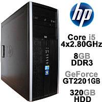HP Compaq 8100 Elite - Intel Core i5 4x2.8GHz /8GB DDR3 /320GB HDD /GeForce GT220 1GB