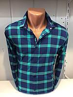 Мужская рубашка в крупную клетку BLACK STONE