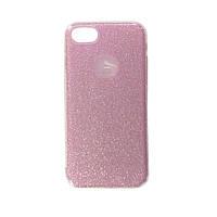 Чехол силиконовый Shine с пластиковым бампером и цветной накладкой Apple iPhone 7 Розовый