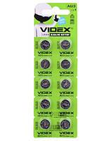 Часовая алкалиновая батарейка G13 Videx