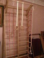 Шведская стенка с гладиаторской сеткой
