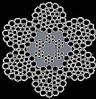 Канат стальной двойной свивки ЛК-РО 6х36+6х7 (1+6) /6В+1о.с. Комби-6 ТУ У 28.7-26209430-049:2012