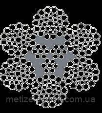 Канат стальной двойной свивки ЛК-РО 6х36+3х7(1+ 6)/3В Комби-3 ТУ У 28.7-26209430-049:2012