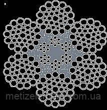 Канат стальной двойной свивки ЛК-РО 6х36+6х7 (1+6) П+1о.с. Метапласт ТУ У 28.7-26209430-049:2012