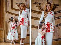 """Family look""""Мама-дочка"""",длинные платья,  платья мини"""