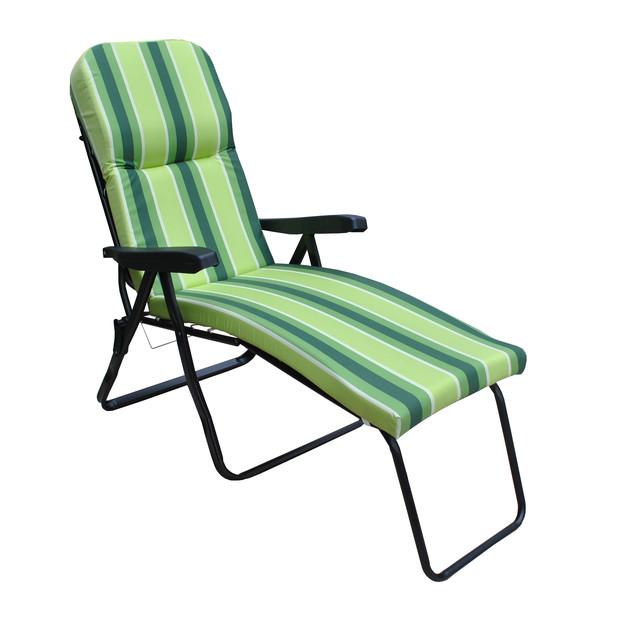Шезлонг пляжный Jodie (texsilk) зеленая полоска