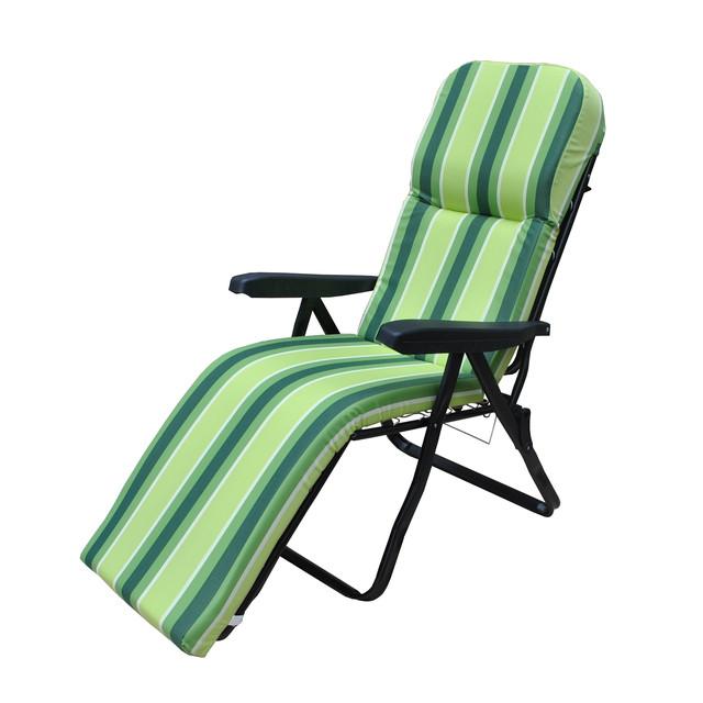 Шезлонг пляжный Jodie (texsilk) зеленая полоска, фото 2