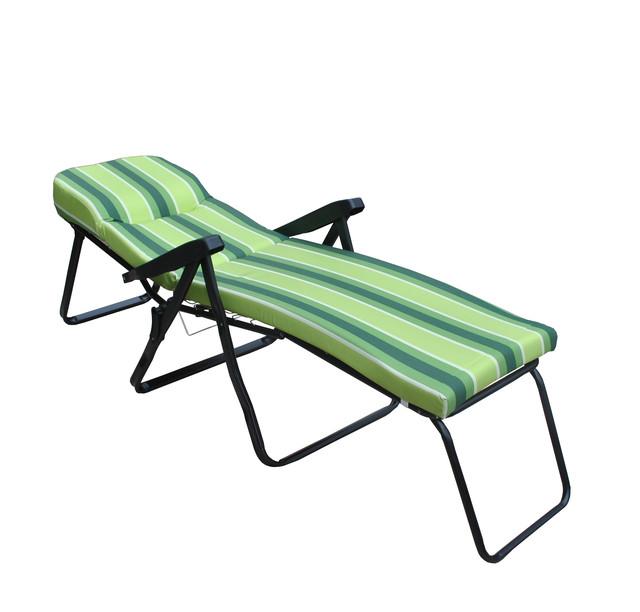 Шезлонг пляжный Jodie (texsilk) зеленая полоска, фото 3