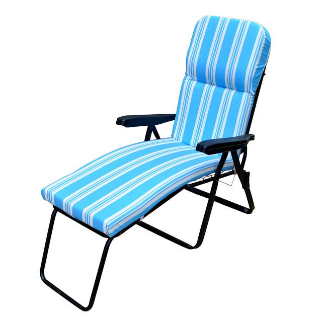 Шезлонг пляжный Jodie (texsilk) голубая полоска