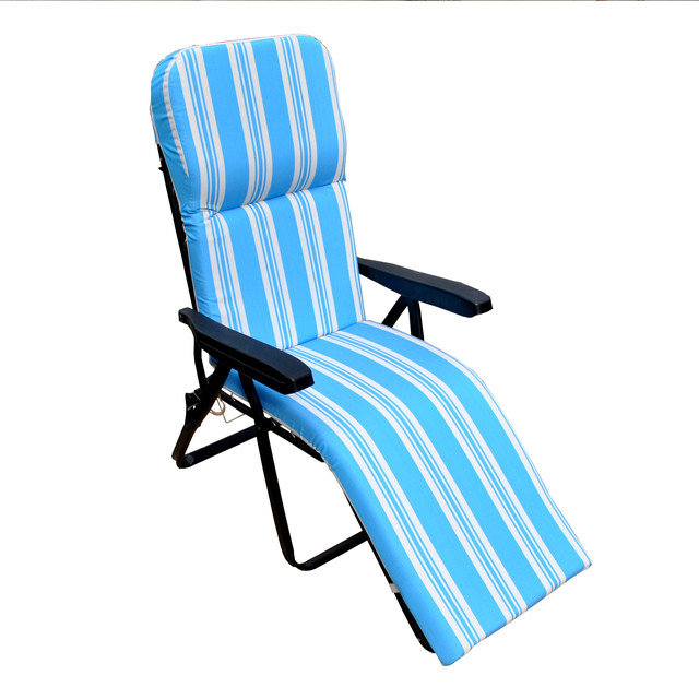 Шезлонг пляжный Jodie (texsilk) голубая полоска (фото 2)