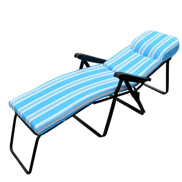 Шезлонг пляжный Jodie (texsilk) голубая полоска (фото 3)