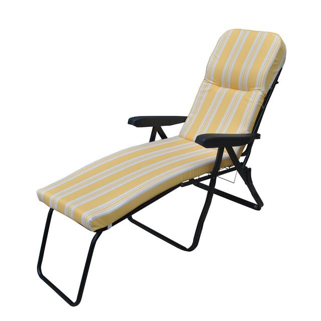 Шезлонг пляжный Jodie (texsilk)  желтая полоска