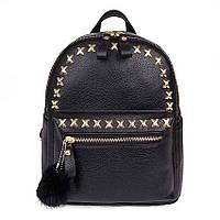 Рюкзак Крестики с помпоном (черный)