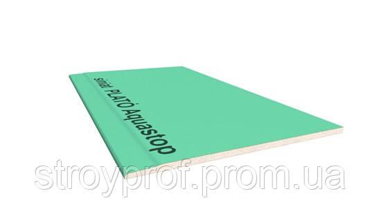 Гипсокартон влагостойкий PLATO Aquastop 12,5х1200х2500мм