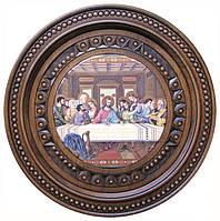 Тарелка ручной работы 36 см. Тайная вечеря