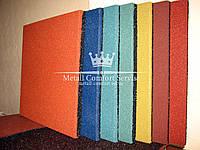 Резиновая плитка 500х500х40 ярко-оранжевая