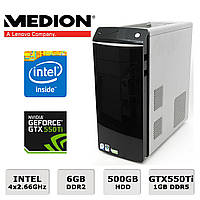 Геймерский Medion - 4х2.67GHz /6GB RAM /500GB HDD /GeForce GTX550Ti 1GB DDR5
