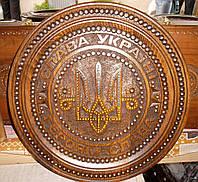 Тарелка ручной работы 36 см. Тризуб