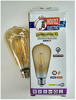 Светодиодная ретро лампа Filament 4w E27 Rustic Vintage-4 Horoz Electric