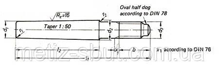 Штифт конический (DIN 1 B  , DIN 7978 , DIN 7977 D), фото 2