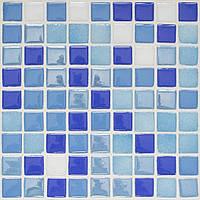 Стеклянная мозаика голубая с синим D-Core DC-15 Украина