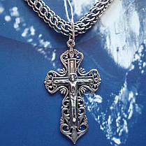 Серебряный крест с распятием, 4,2 грамма, фото 2