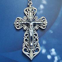 Серебряный крест с распятием, 4,2 грамма, фото 3