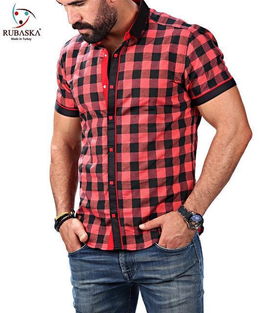 Красная клетчатая рубашка от производителя