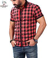 Красная клетчатая рубашка от производителя, фото 1