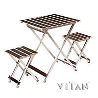 Набор раскладной стол и 2 стула