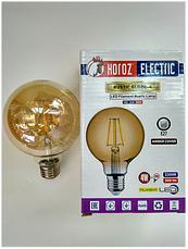 Светодиодная винтажная лампа Filament 4w E27 Rustic Globe-4 Horoz Electric, фото 2