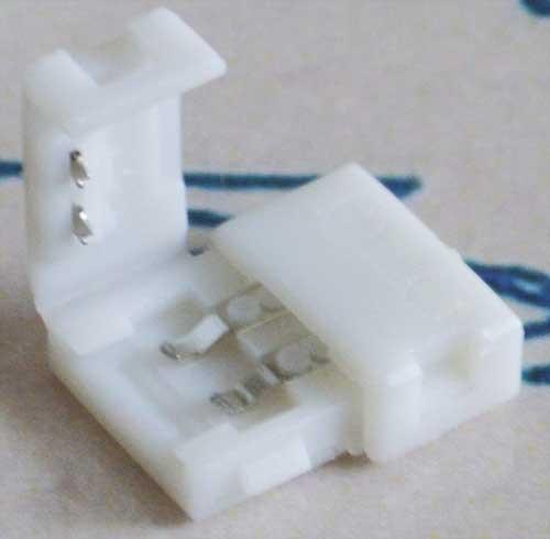 Разъем(коннектор) для светодиодной ленты 10мм. защелки с двух сторон