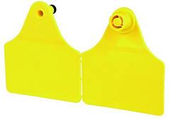 Ушная бирка желтая  58 x 68 мм