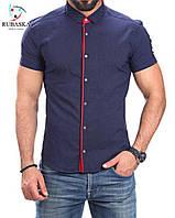 Стильная мужская  рубашка рубашка с красным воротником хит продаж, фото 1