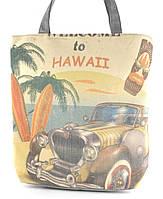 Легкая льняная пляжная женская сумка art. Лён Гаваи(100192)