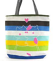 Легкая льняная пляжная женская сумка art. Лён обнимашки (100191)