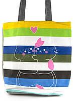 Легкая льняная пляжная женская сумка art. Лён обнимашки (100182)
