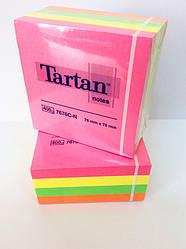 Клейкие листочки 3M Post it, неоновый розовый, 400 листов, 76мм х 76мм