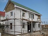 Наружное утепление стен фасадов зданий листовым пенопластом 100 мм с материалом