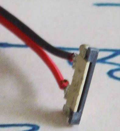 Разъем(коннектор) для светодиодной ленты 8мм. с проводом, соединитель без защелки, фото 2