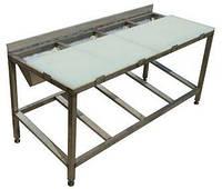 Стол для жиловки мяса из нержавеющей стали с ПЭ доской