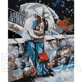 """Акриловий живопис за номерами КНО 2658 """"Під дощем"""" полотно 40*50 см без коробки ТМ Ідейка"""