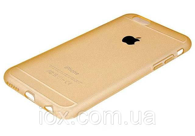 Золотистый силиконовый чехол Creative case для Iphone 6