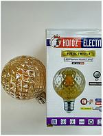 Светодиодная винтажная лампа Filament 4w E27 Rustic Twist-4 Horoz Electric